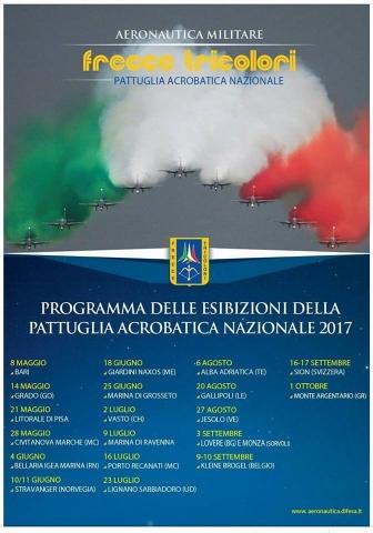 programma frecce tricolori 2017